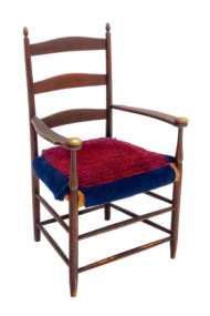 Lot 18: Mount Lebanon Three-Slat Armchair