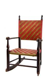 Lot 10: Rare Child's Rocking Chair
