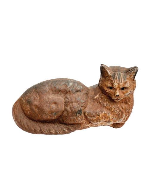 Lot 108b cast iron reclining cat door stop willis henry auctions inc - Cat door stoppers ...