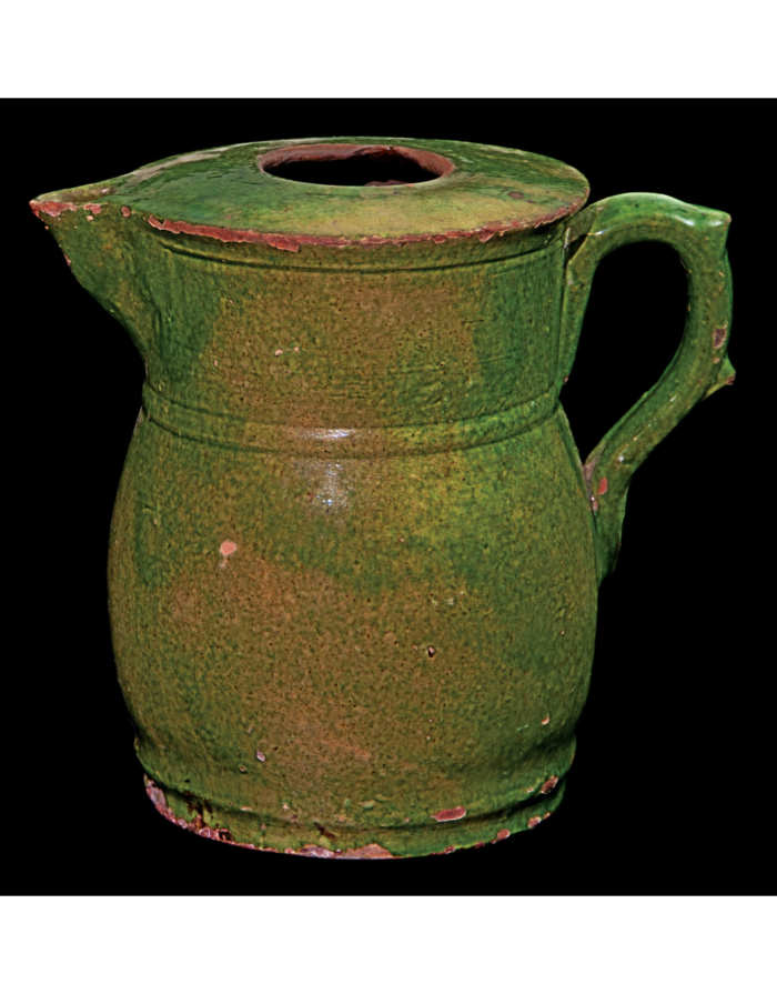 Lot 115D: 19th C. Redware Hot Water or Coffee Pot