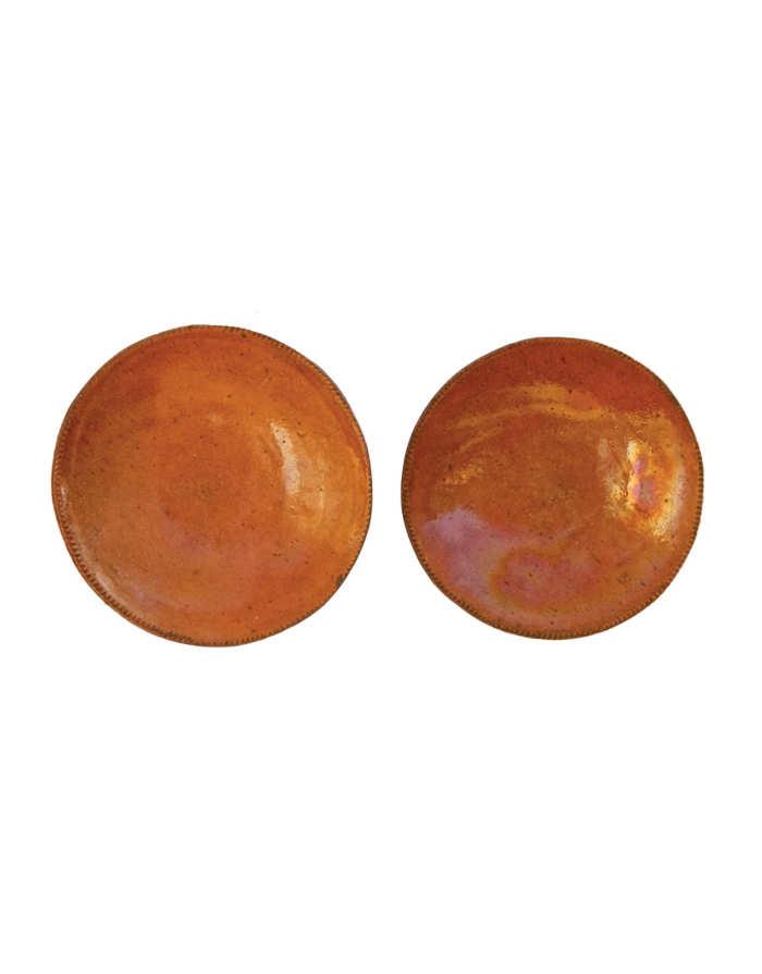 Lot 124: Redware Plates