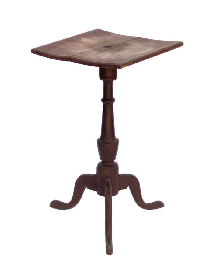 Lot 143: Early 19th C. New England Candlestand
