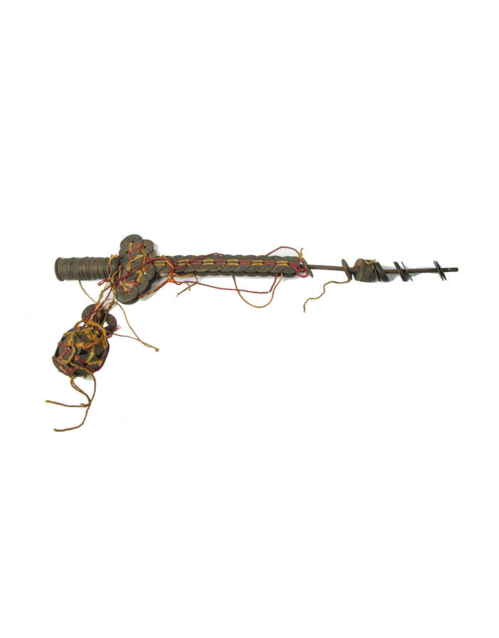 Lot 144F: Faux Sword Made of Brass Chinese Coins