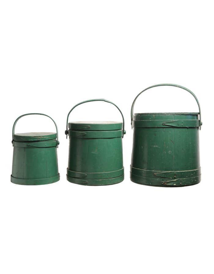 Lot 153: Three Hingham Buckets