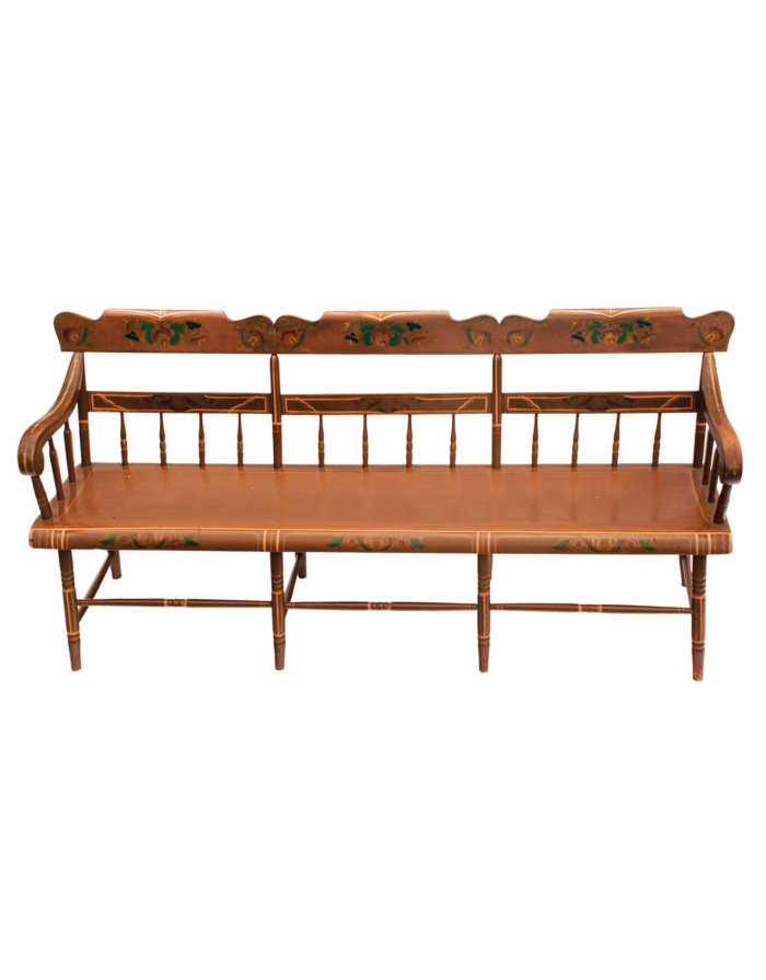Lot 170: Very Fine 19th C. Pennsylvania Bench
