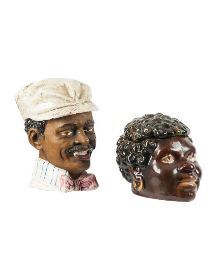 Lot 181F: Two Figural Ceramic Tobacco Humidors