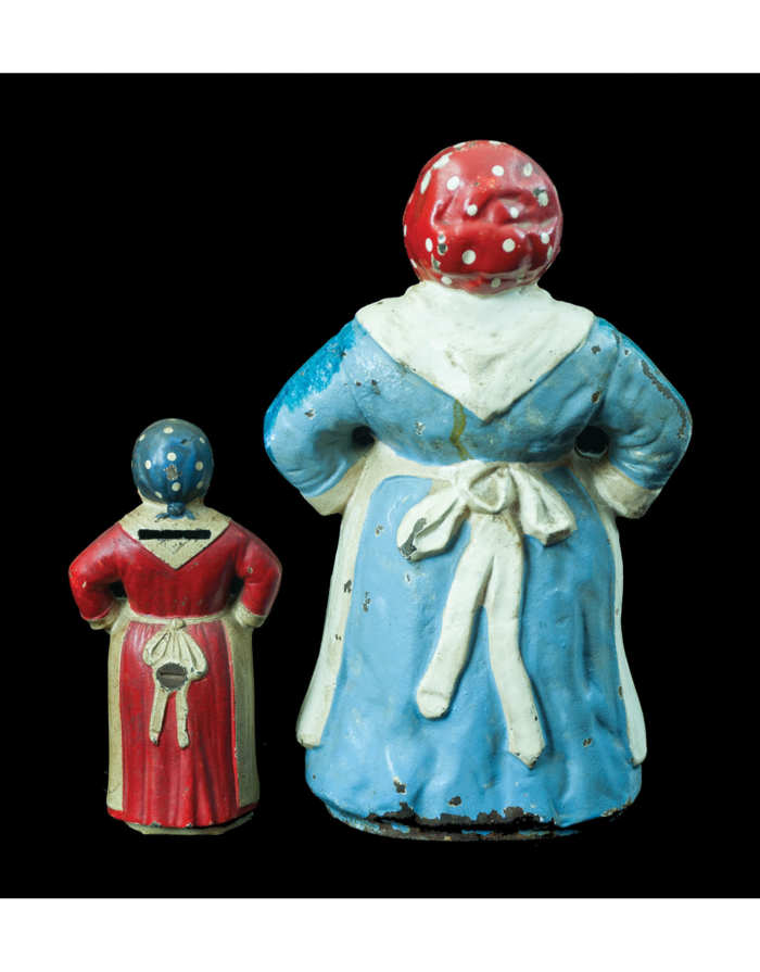 """Lot 181: Two Cast Iron """"Mammy"""" Figures"""