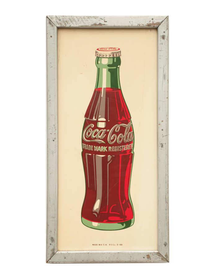 """Lot 184: """"Coca Cola"""" Sign"""