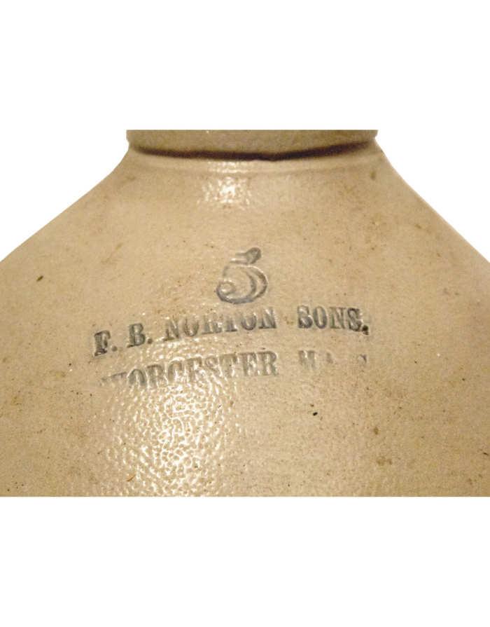 Lot 18: 19th C. Stoneware Jug