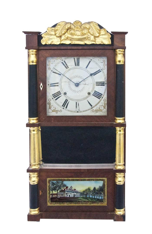 Lot 208: 19th C. Shelf Clock