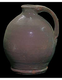 Lot 23F: New England Early Redware Jug