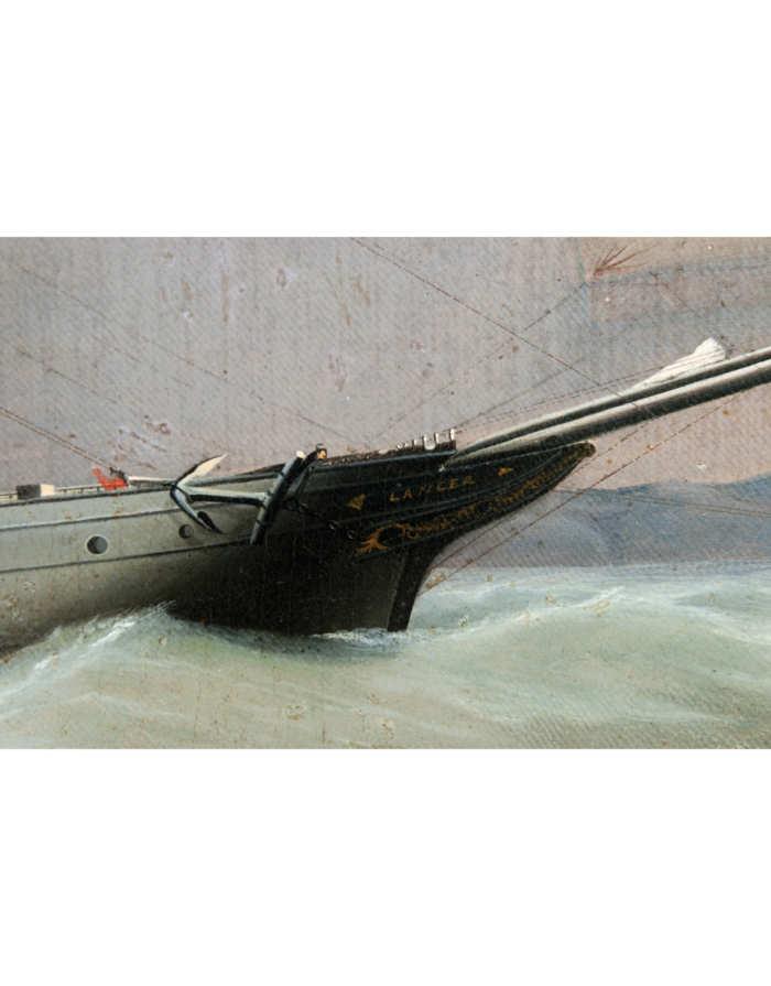 Lot 36: 19th C. Portrait of Whale Ship