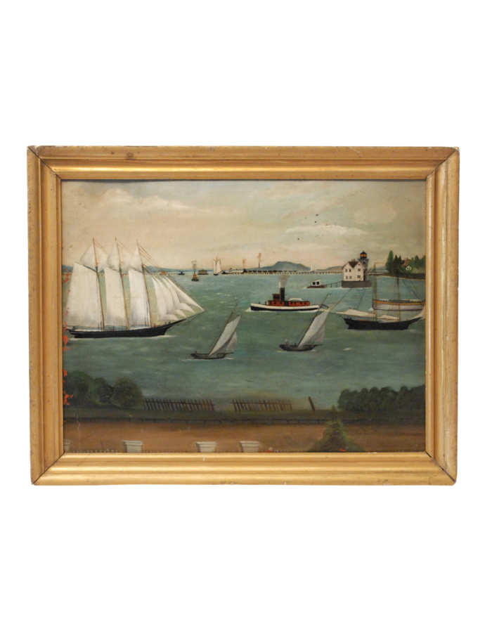 Lot 43: Oil of Nautical Scene