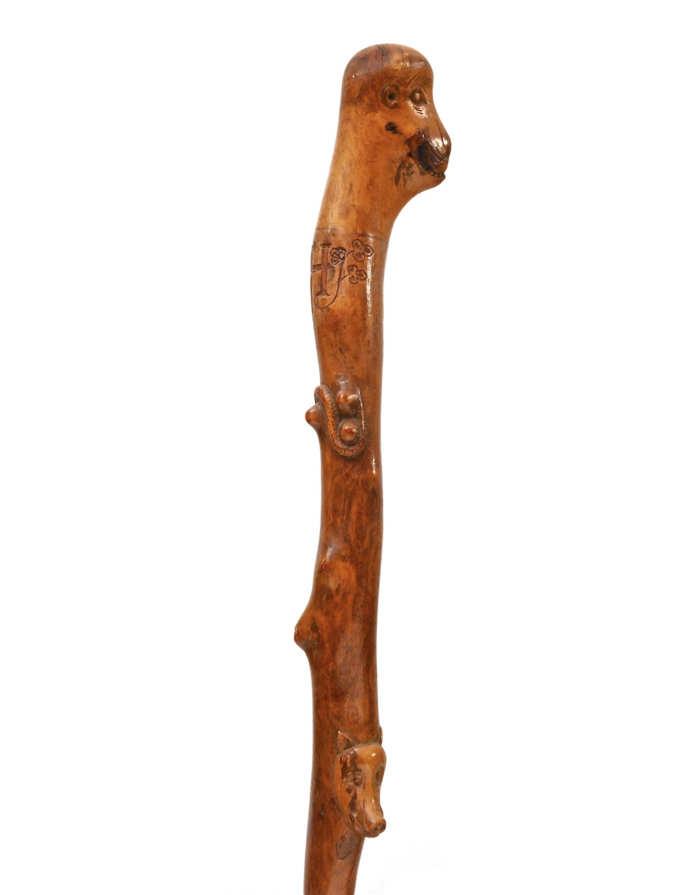 Lot 47: Folk Art Carved Cane