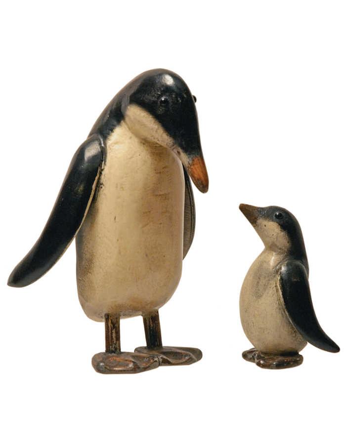 Lot 4: Carved Penguins