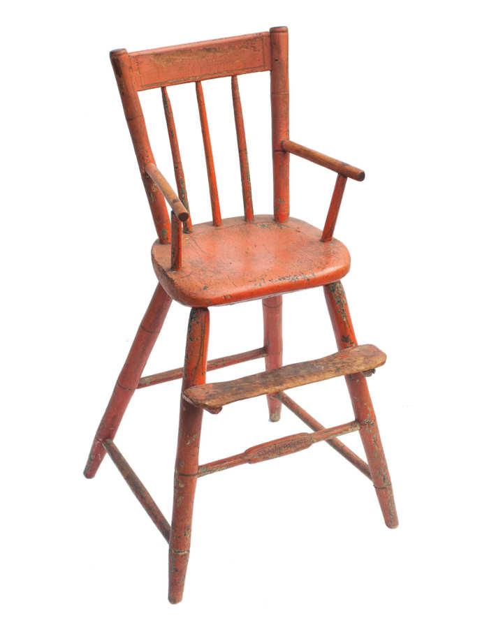Lot 53A: 19th C. Windsor High Chair