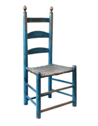 Lot 53: Blue Side Chair