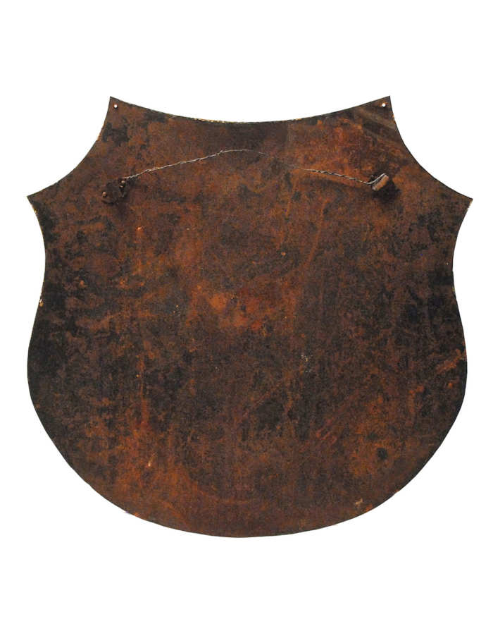 Lot 5: Tin Shield with Stars and Stripes