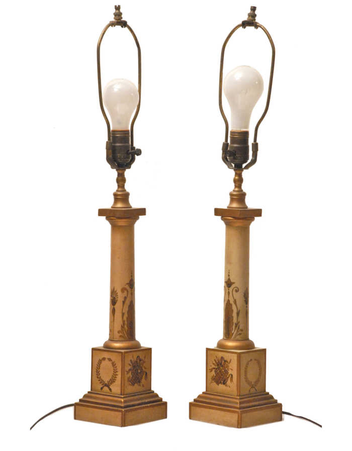 Lot 61: Tole Lamps
