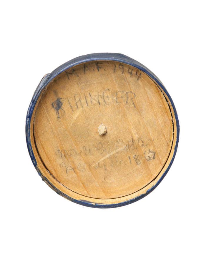 Lot 62A: 19th C. Miniature Hingham Firkin