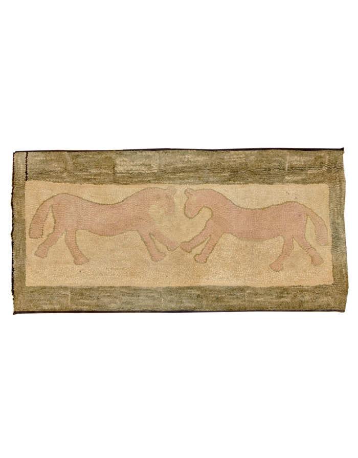 Lot 79: Folk Art Hooked Rug