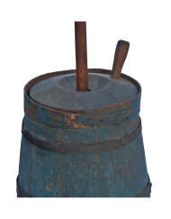 Lot 7: Tall 18th C. New England Butter Churn