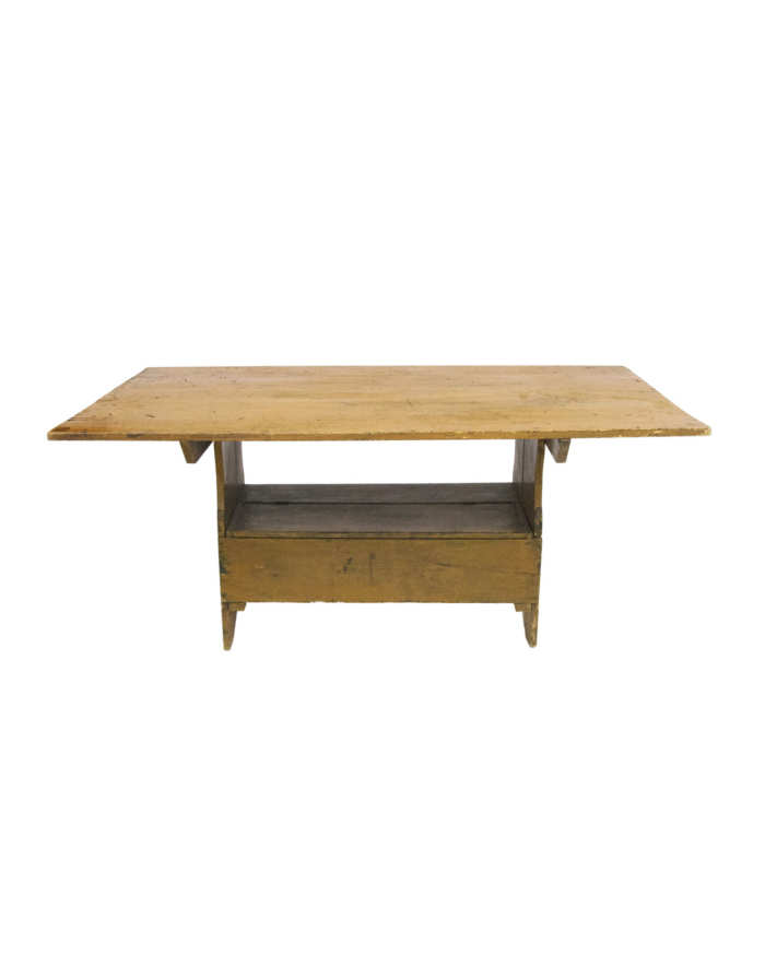 Lot 85: Early 19th C. Hutch Table/Bench