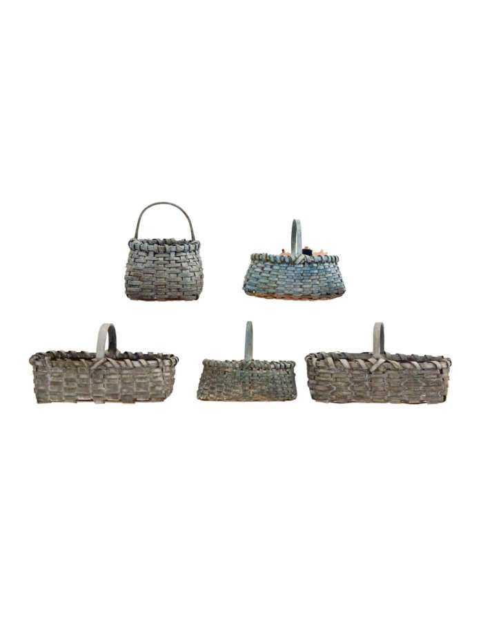 Lot 96: Five Miniature Baskets