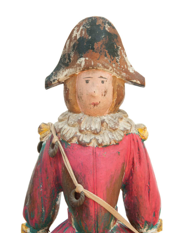 Lot 98: Carved Wood Circus Wagon Figure