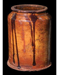 Lot 9A: New England Glazed Redware Jar