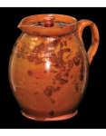 Lot 9E: Two New England Redware Ale Mugs