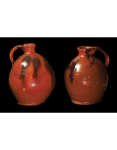 Lot 9G: Two New England Redware Ovoid Jugs