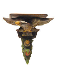 Lot 45A: Clock Shelf with Eagle