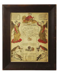 Lot 6B: Early 19th C. Pennsylvania Fraktur