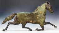 Lot 10: 19th c. Trotting Horse Copper Weathervane
