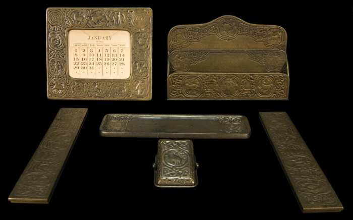 Lot 111A: Tiffany Desk Set