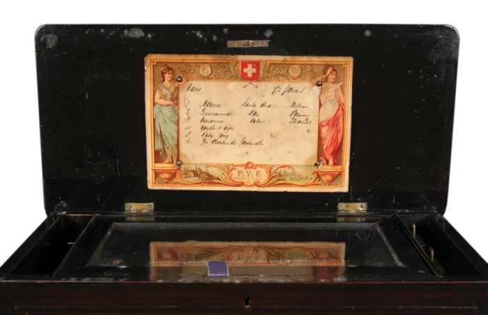 Lot 114: 19th c. Swiss Music Box