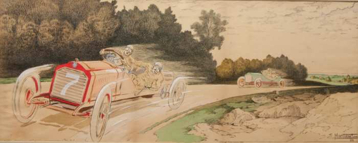Lot 123A: French Auto Racing Print