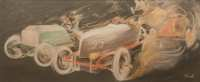 Lot 123: French Auto Racing Print
