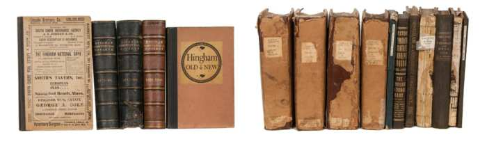Lot 129A: 19th c. Hingham Town Reports