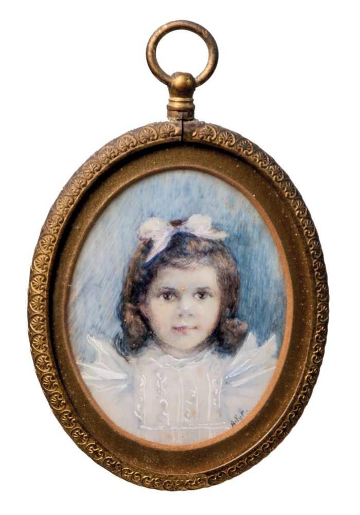 Lot 131A: Miniature Oval Portrait on Ivory