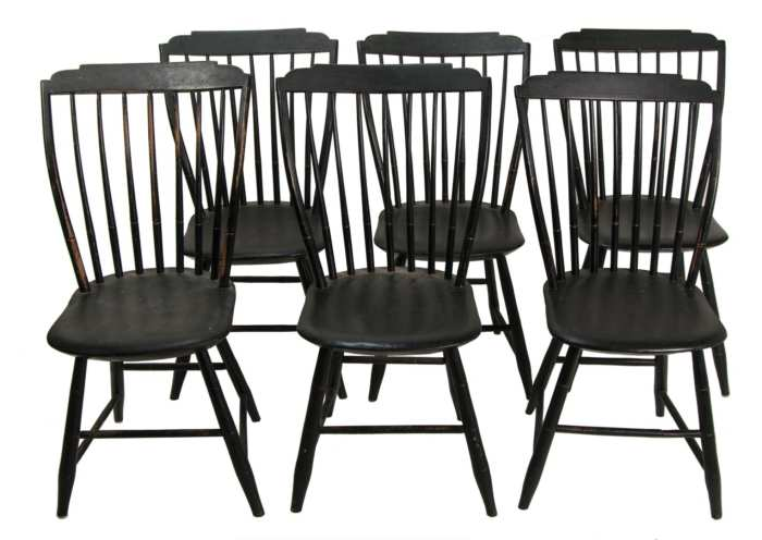 Lot 134: 19th c. Windsors Side Chairs