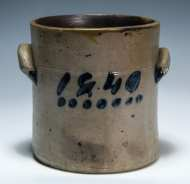 Lot 13: 19th c. Stoneware Crock