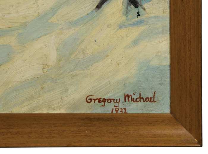 Lot 157: Landscape Oil by Gregory Michael
