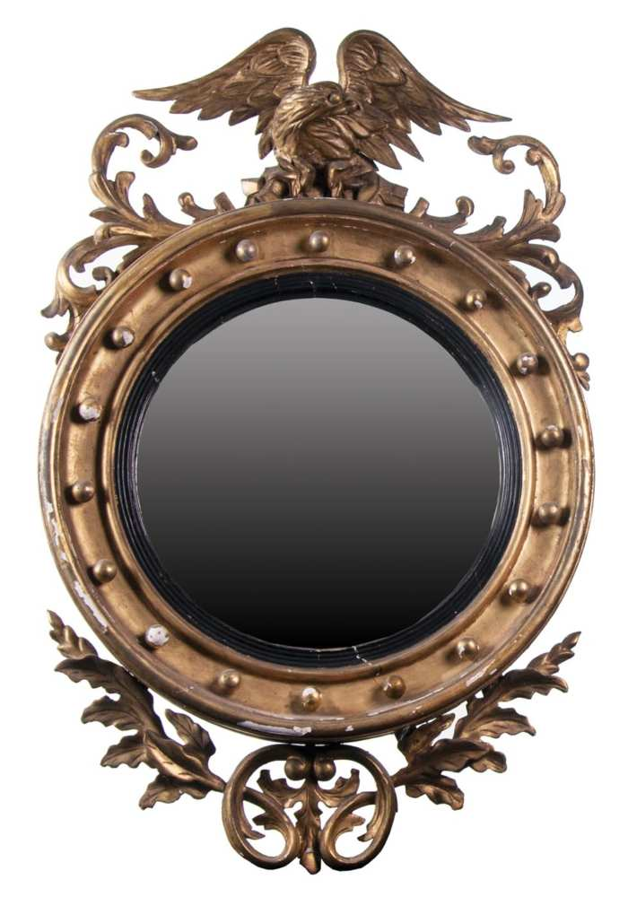 Lot 160: Federal Style Round Mirror
