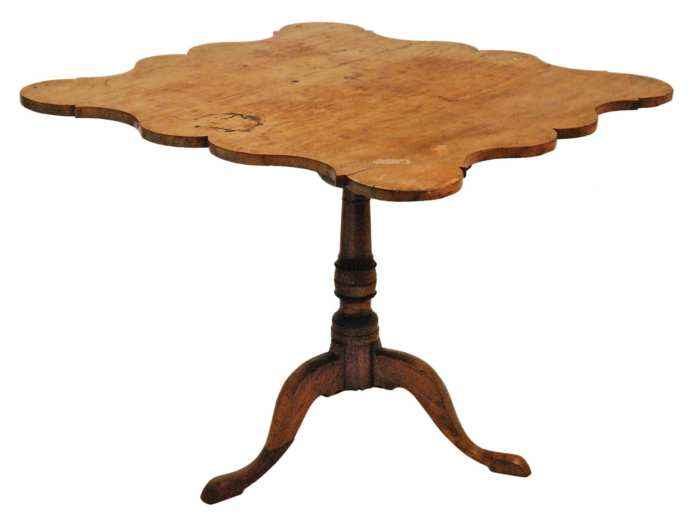 Lot 190: 18th c. Tip-Top Country Tea Table