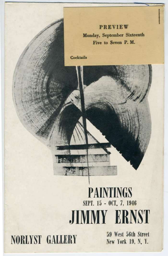 Lot 19: Abstract Oil by Jimmy Ernst