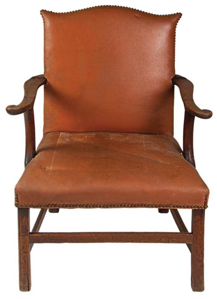 Lot 204: 18th c. English Mahogany Armchair