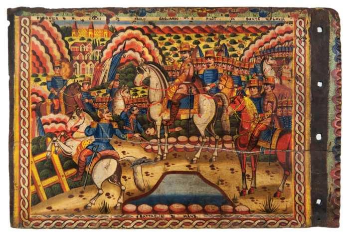 Lot 224: Painting of Battle Scene
