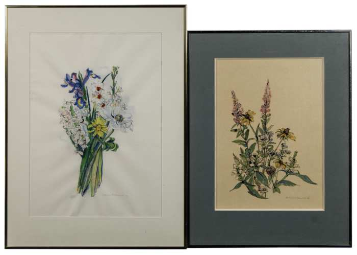Lot 259: Five Framed Pieces